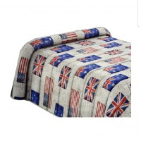 UK flags quilt single bed