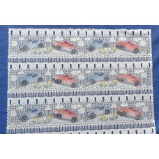French curtain with cars