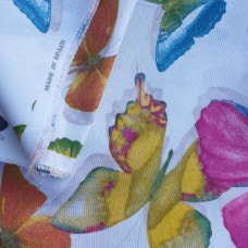 Multicolor butterfly fabric