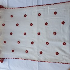 French curtain with little red flowers