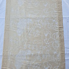French curtain devoreh beige with flowers
