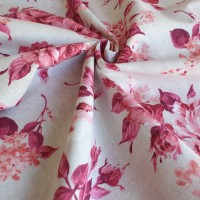Red fucsia flower fabric