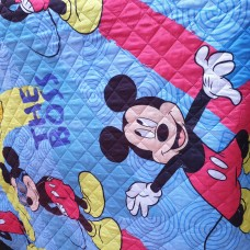 Mickey mouse soft quilt single bed