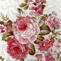 Double bed Soft quilt Sonia Red-pink