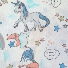Unicorn fabric light white