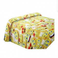 Yellow smiles quilt single bed