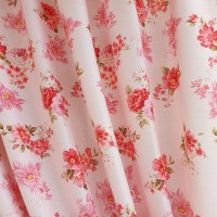 Opaque flowers pink fabric
