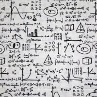 Fabric with math formulas