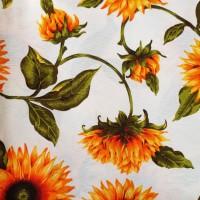 Sunflower loneta fabric
