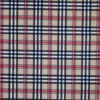 Scottish design beige cotton fabric