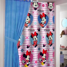 Disney Minnie Mouse cotton ready made curtain