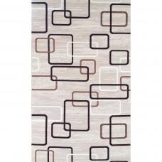 Geko grey squares carpet 100x180
