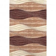 Gako brown wave carpet 100x180