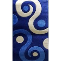 Paradise blue and beige circles carpet 80x140