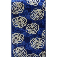 Paradise blue and beige roses carpet 80x140