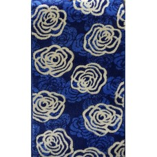 Paradise blue and beige roses carpet 60x110