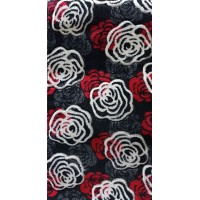 Paradise red and black roses carpet 80x140