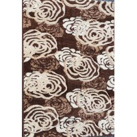 Paradise brown and beige roses carpet 80x140