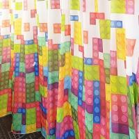 Multicolor Lego bricks curtain fabric