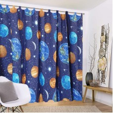 Opaque curtain with planets