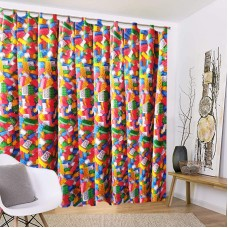Opaque curtain with Lego bricks