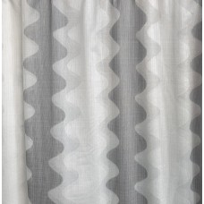 Grey and white wave curtain