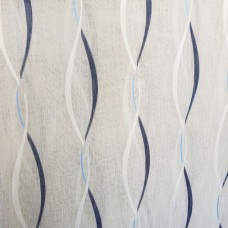 Blue waves curtain