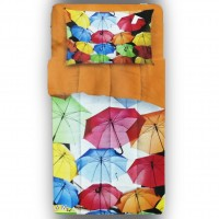 Umbrellas quilt for single bed