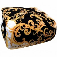 Versace black Marta Marzotto King size quilt