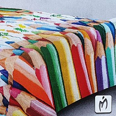 3d crayons soft quilt for twin bed
